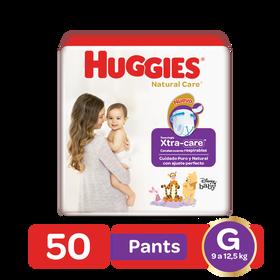 Pantaloncitos Huggies Natural Care Talla G, 50 uds