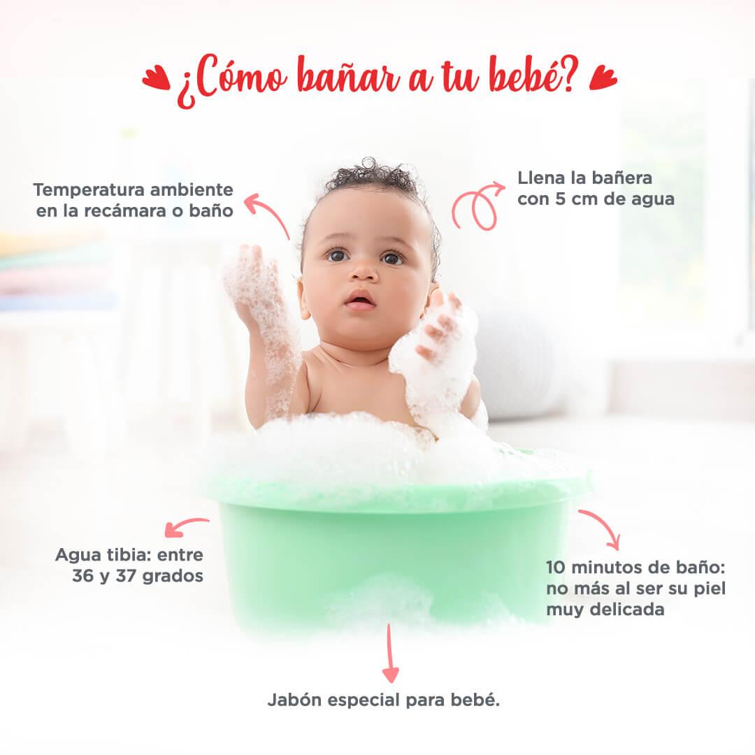 Bañando a tu bebé