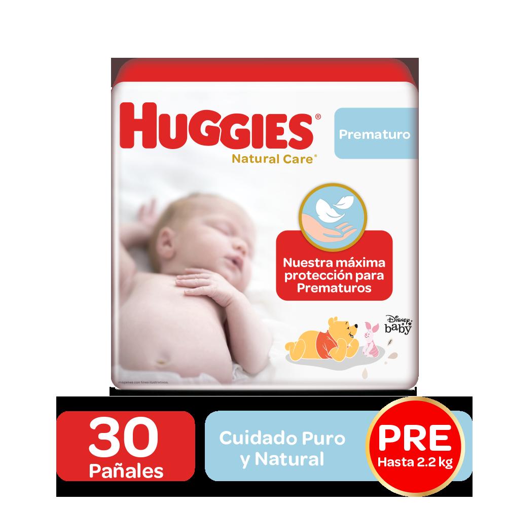 Pañales Huggies Natural Care Talla Prematuro, 30uds